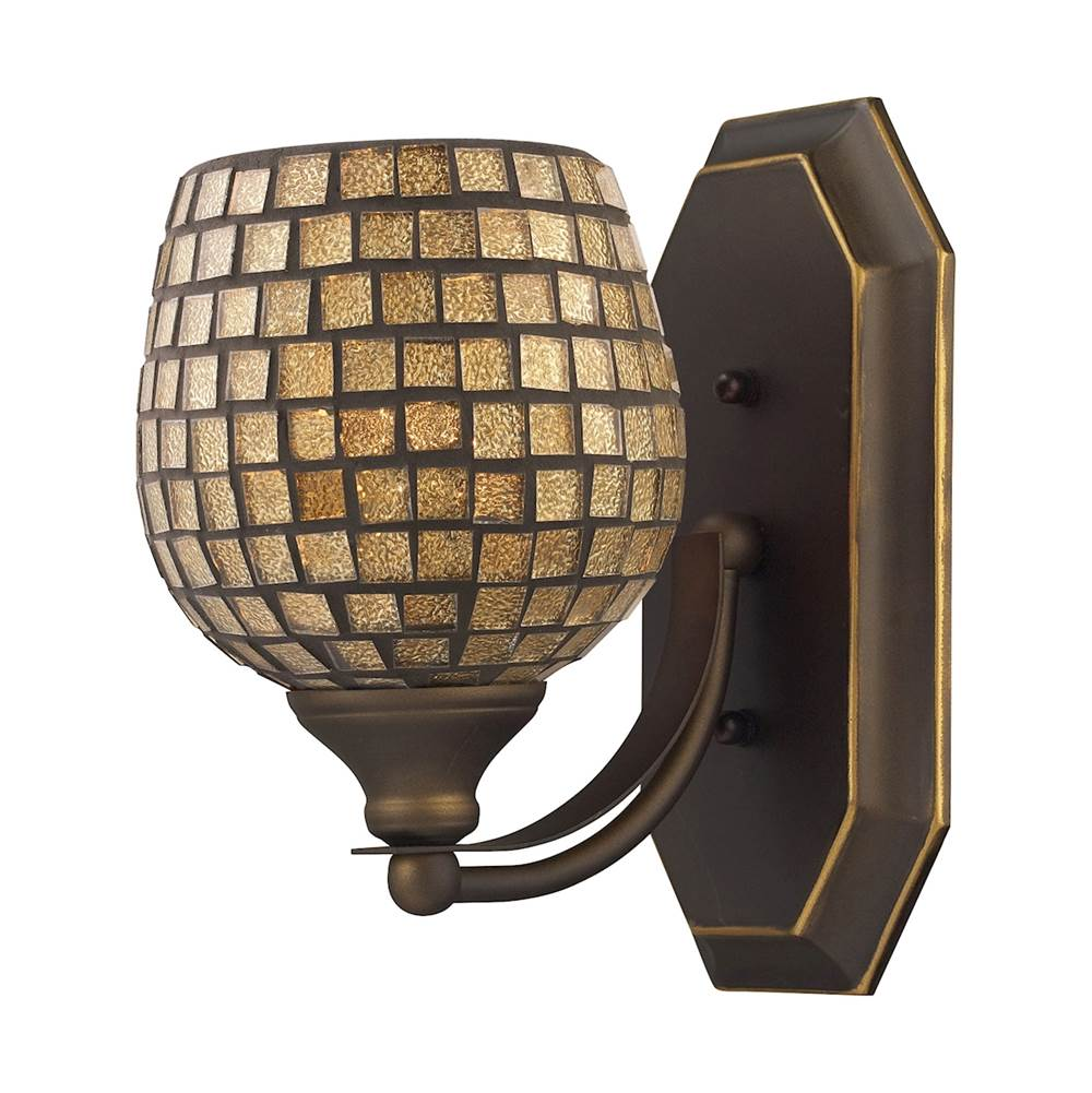Elk Lighting One Light Vanity Bathroom Lights item 570-1B-GLD