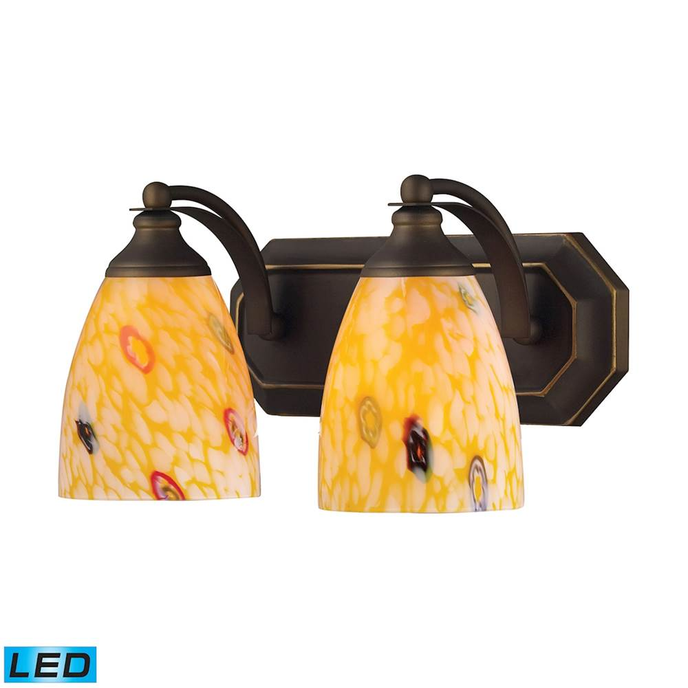Elk Lighting Two Light Vanity Bathroom Lights item 570-2B-YW-LED