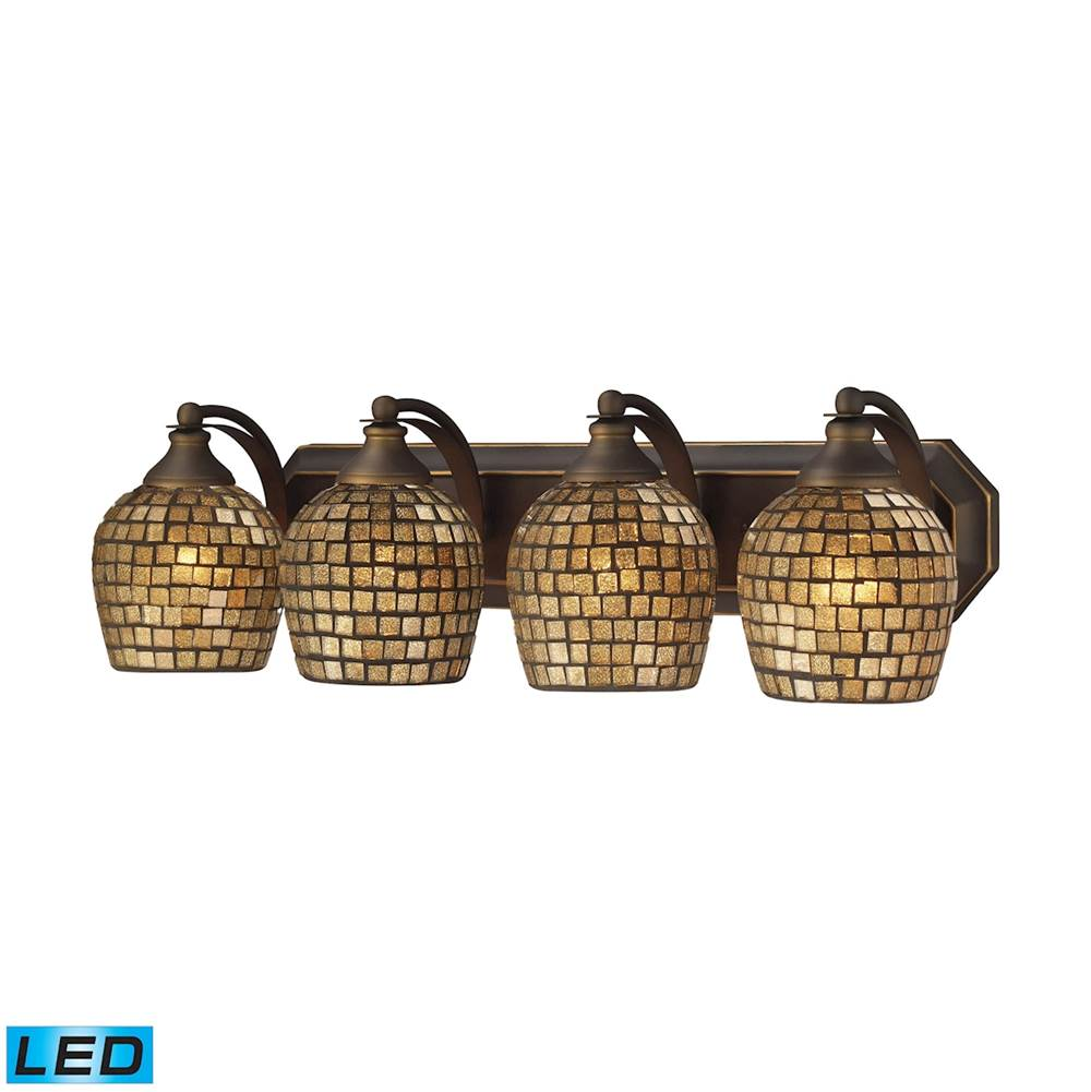 Elk Lighting Four Light Vanity Bathroom Lights item 570-4B-GLD-LED
