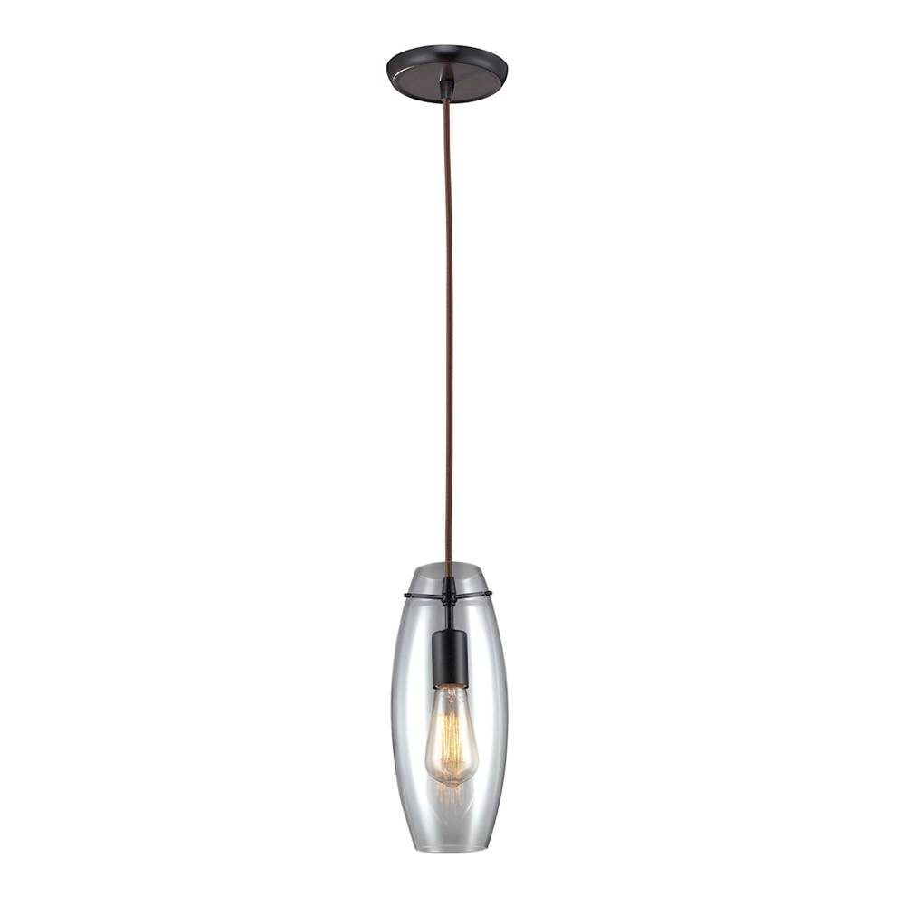 Elk lighting 60044 1 at kitchens and baths by briggs bath showroom elk lighting 60044 1 menlow park 1 light pendant in oil rubbed bronze aloadofball Image collections