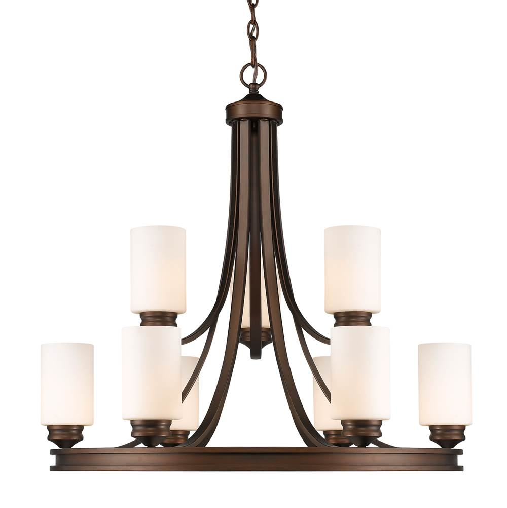 Golden Lighting Multi Tier Chandeliers item 1051-9 SBZ-OP