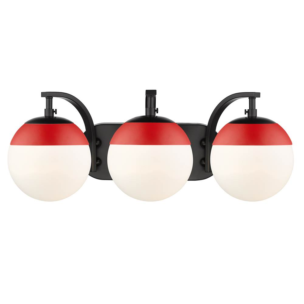 Golden Lighting Flush Ceiling Lights item 3218-BA3 BLK-RED