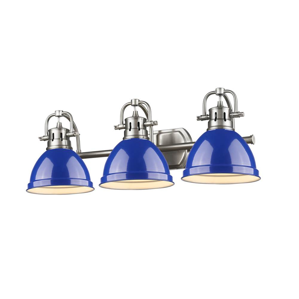 Golden Lighting Three Light Vanity Bathroom Lights item 3602-BA3 PW-BE