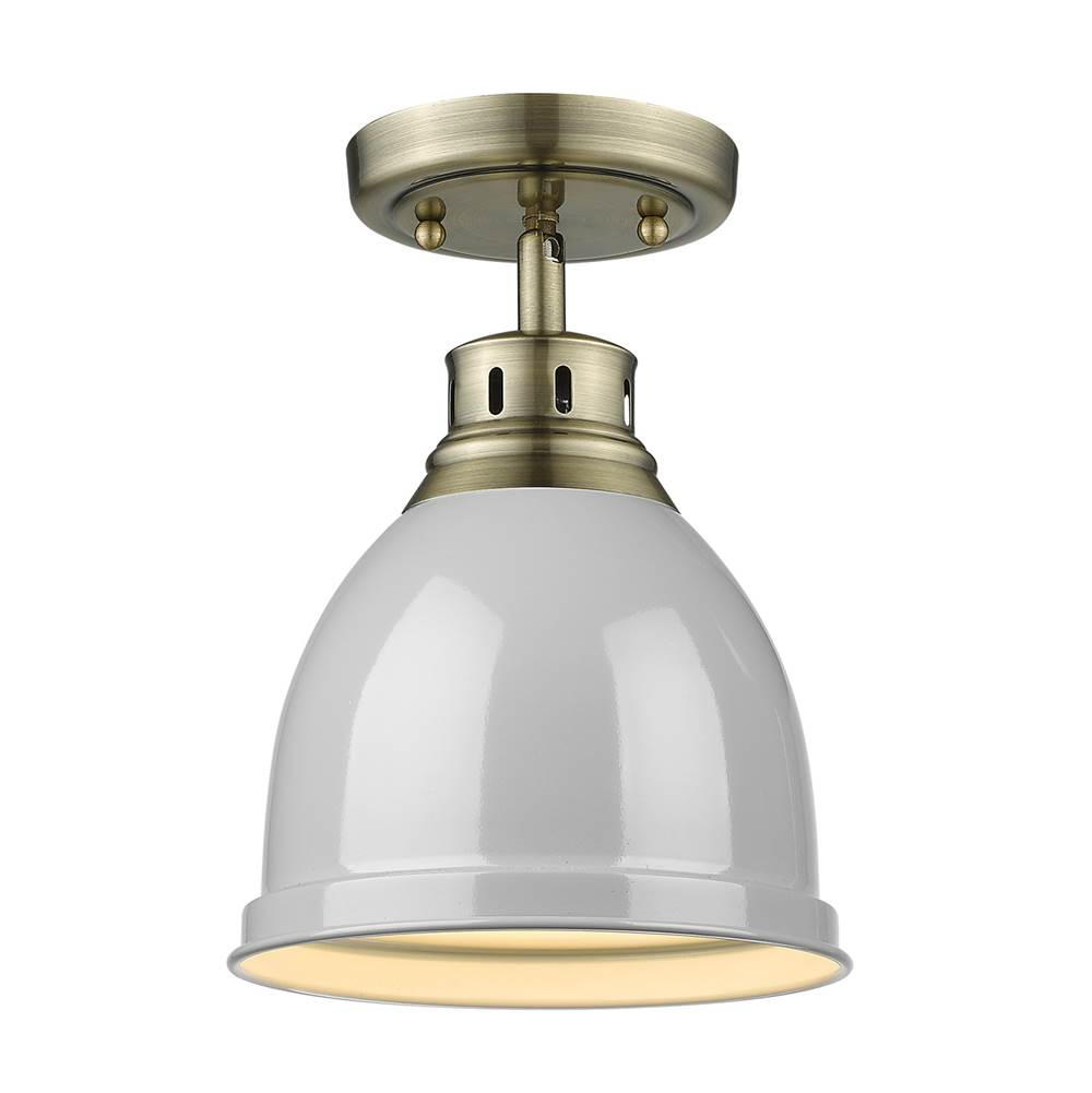 Golden Lighting Flush Ceiling Lights item 3602-FM AB-GY