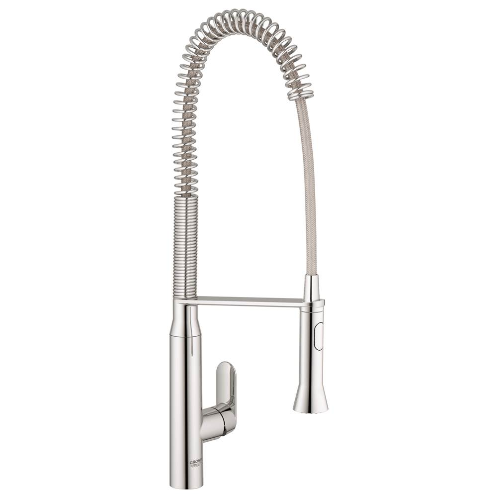 Grohe 32951000 k7 semi pro single handle pull out kitchen faucet