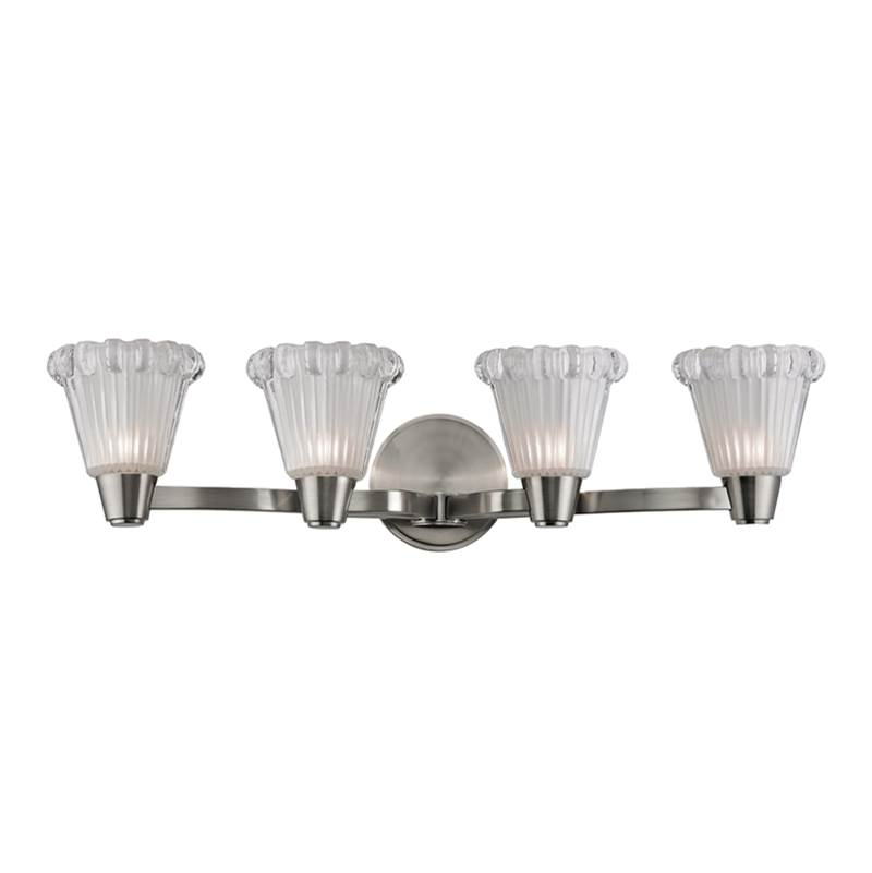 Hudson Valley Lighting Four Light Vanity Bathroom Lights item 3444-SN