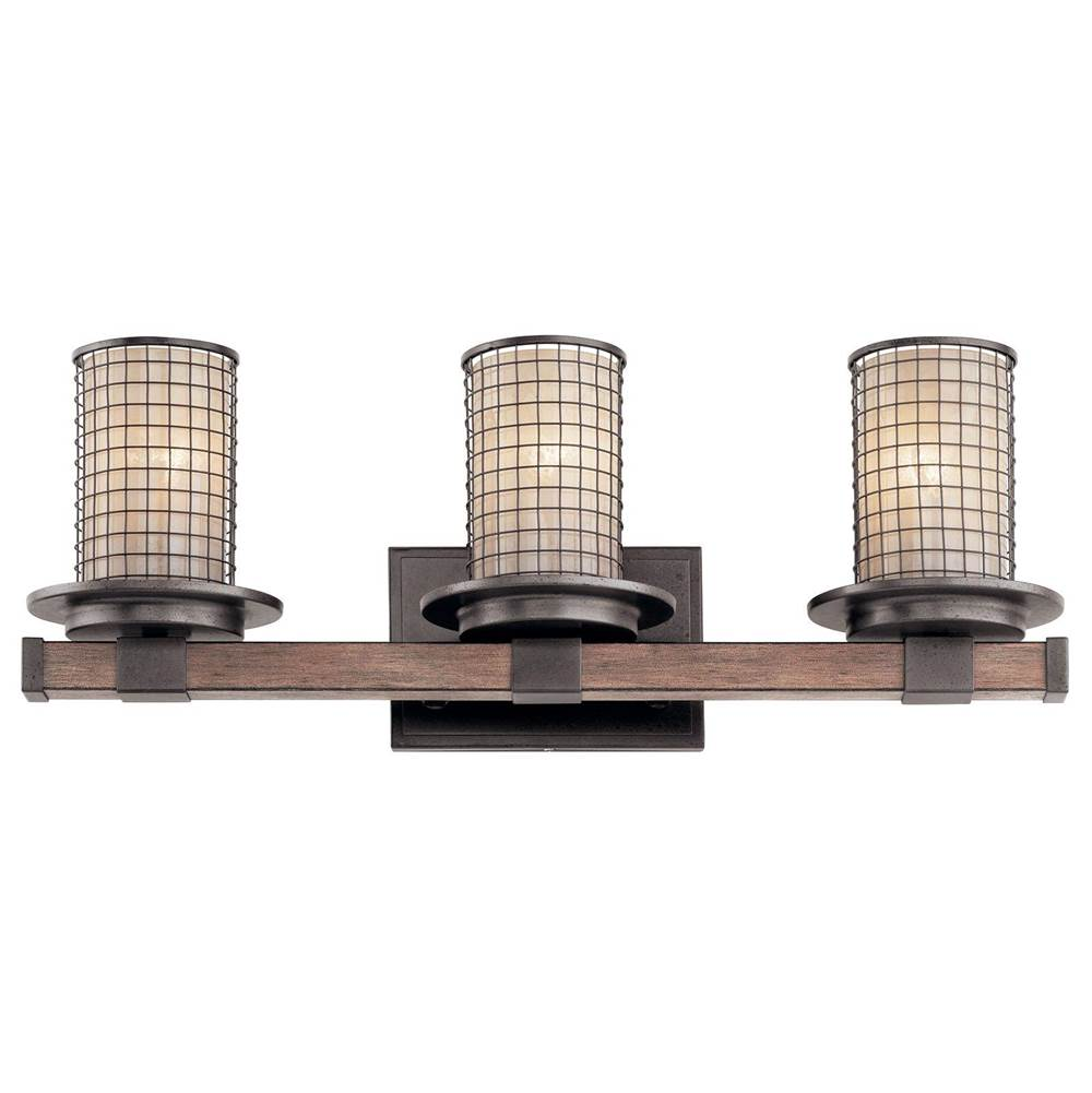 Kichler Lighting Three Light Vanity Bathroom Lights item 45196AVI