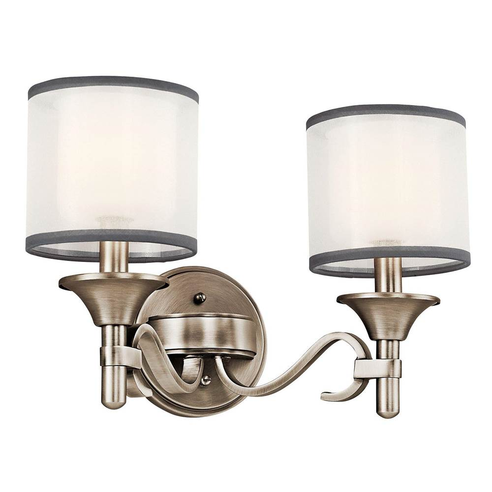 Kichler Lighting Two Light Vanity Bathroom Lights item 45282AP