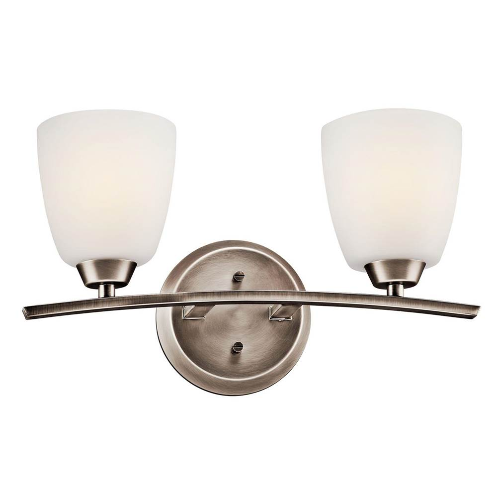 Kichler Lighting Two Light Vanity Bathroom Lights item 45359BPT