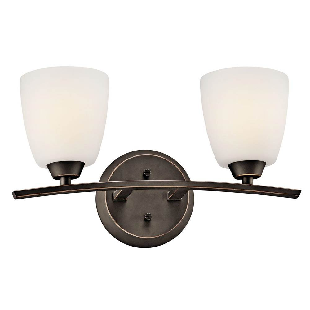 Kichler Lighting Two Light Vanity Bathroom Lights item 45359OZ