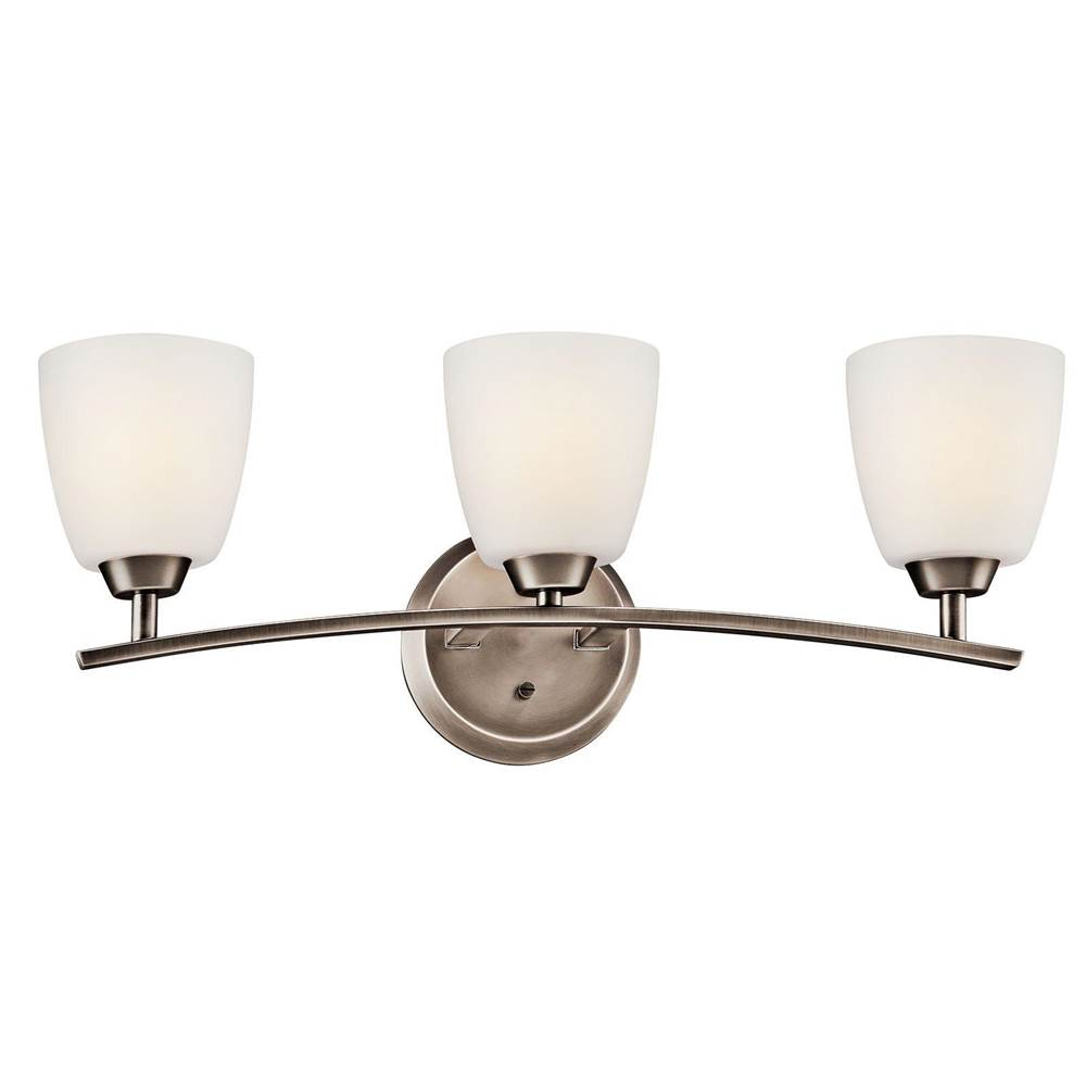 Kichler Lighting Three Light Vanity Bathroom Lights item 45360BPT
