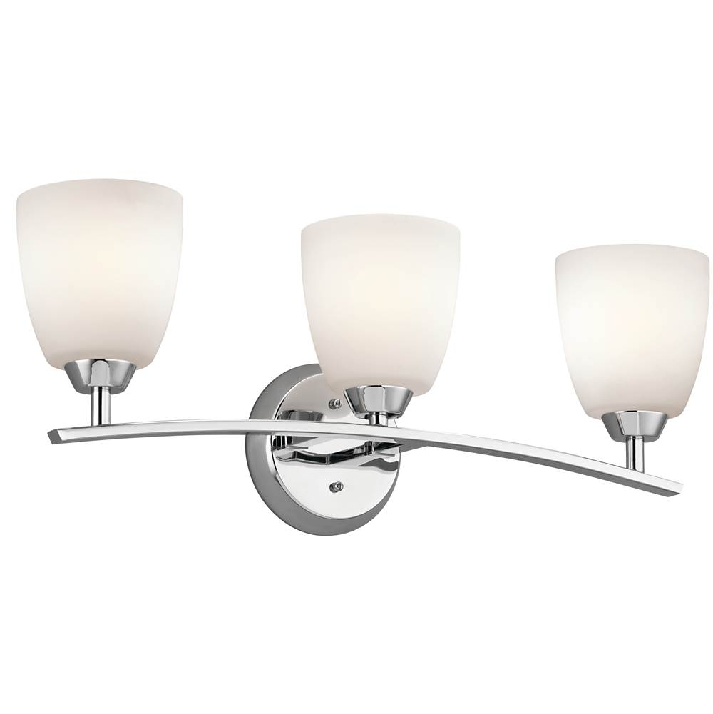 Kichler Lighting Three Light Vanity Bathroom Lights item 45360CH