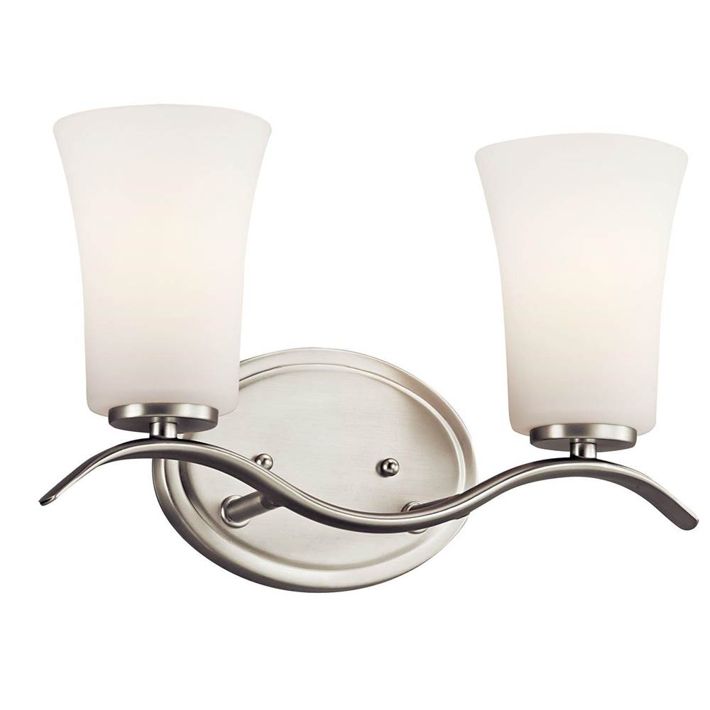 Kichler Lighting Two Light Vanity Bathroom Lights item 45375NI