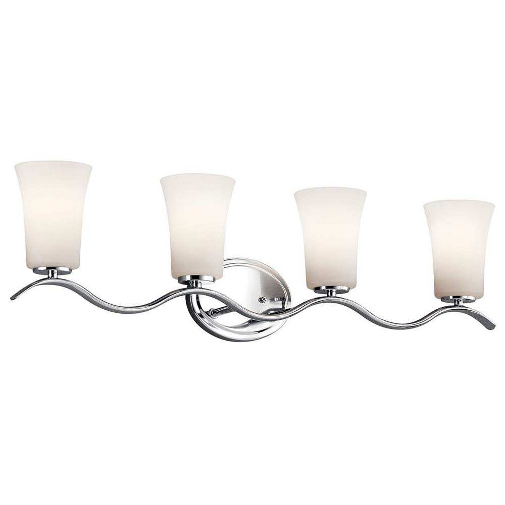 Kichler Lighting Four Light Vanity Bathroom Lights item 45377CHL18