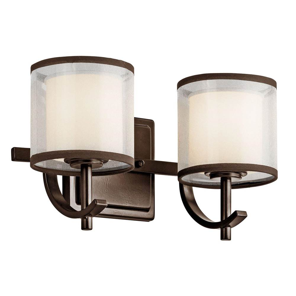 Kichler Lighting Two Light Vanity Bathroom Lights item 45450MIZ