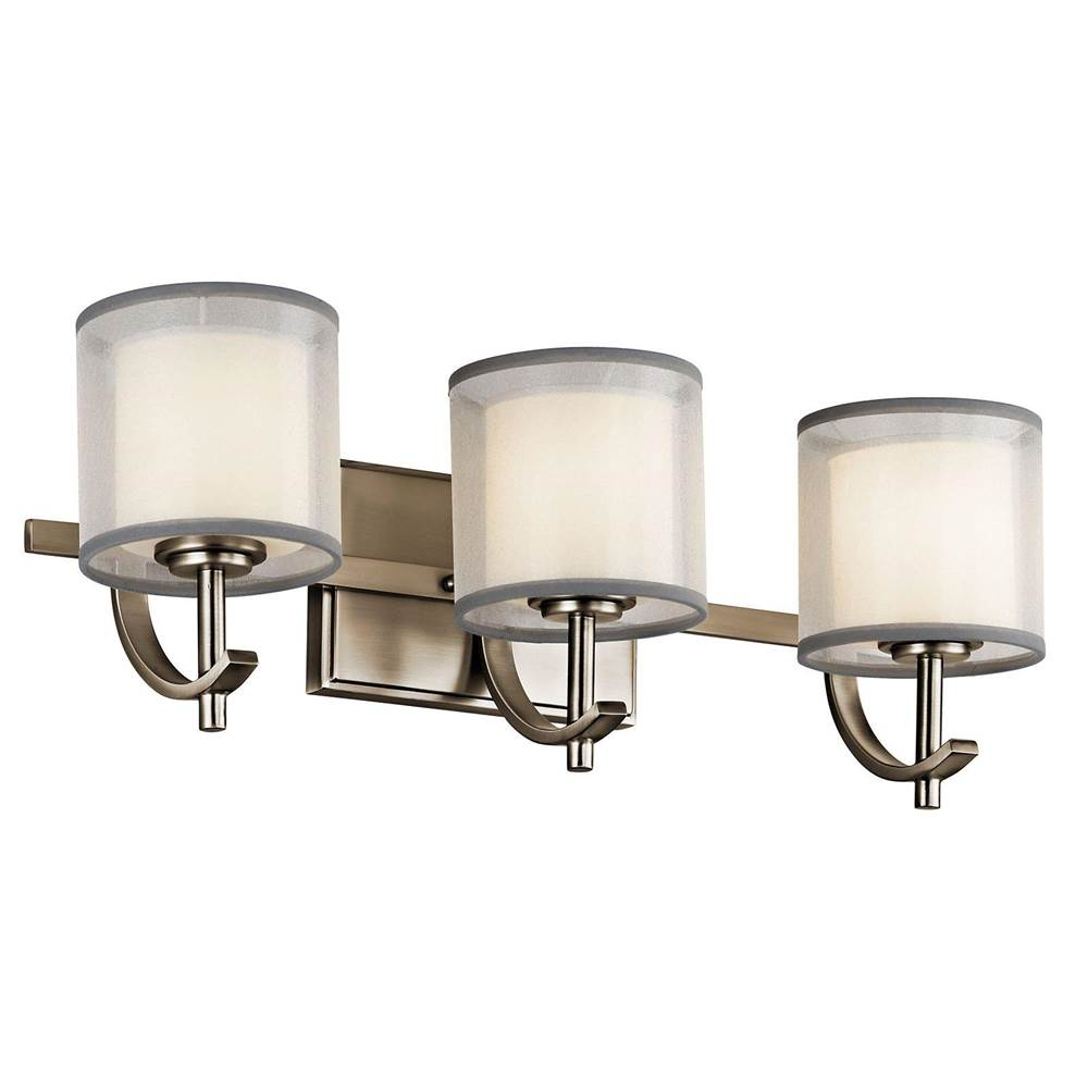 Kichler Lighting Three Light Vanity Bathroom Lights item 45451AP