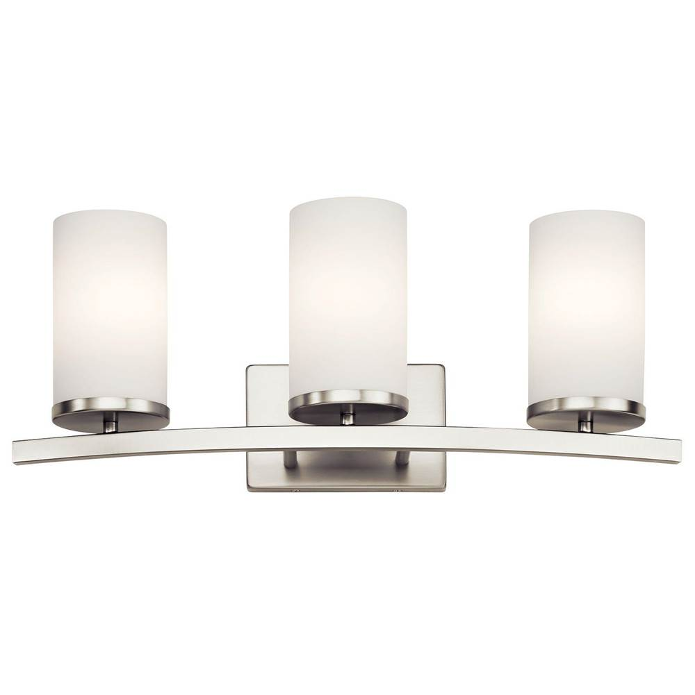 Kichler Lighting Three Light Vanity Bathroom Lights item 45497NI