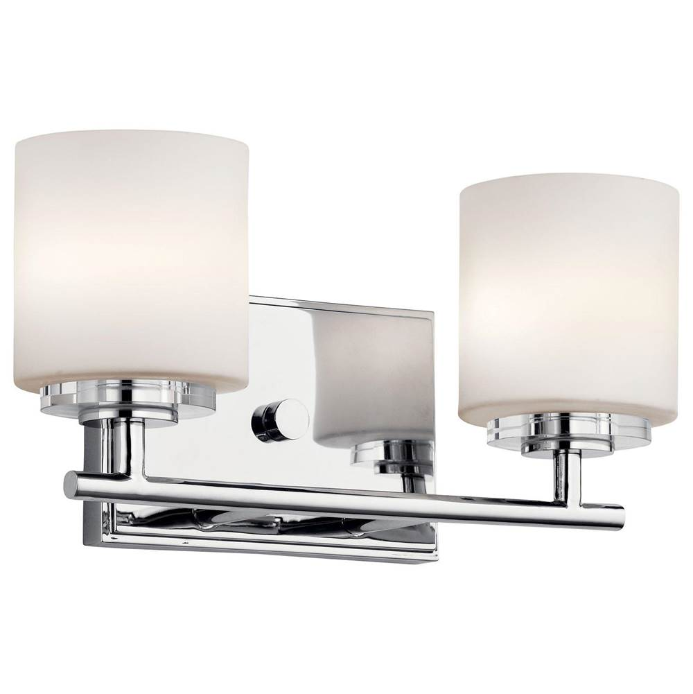 Kichler Lighting Two Light Vanity Bathroom Lights item 45501CH