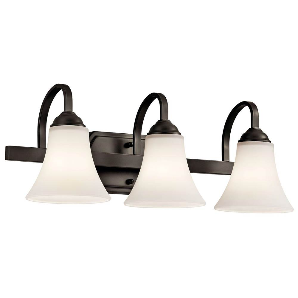 Kichler Lighting Three Light Vanity Bathroom Lights item 45513OZ