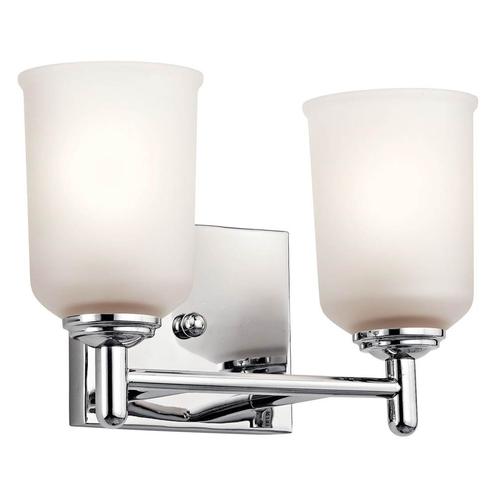 Kichler Lighting Two Light Vanity Bathroom Lights item 45573CH