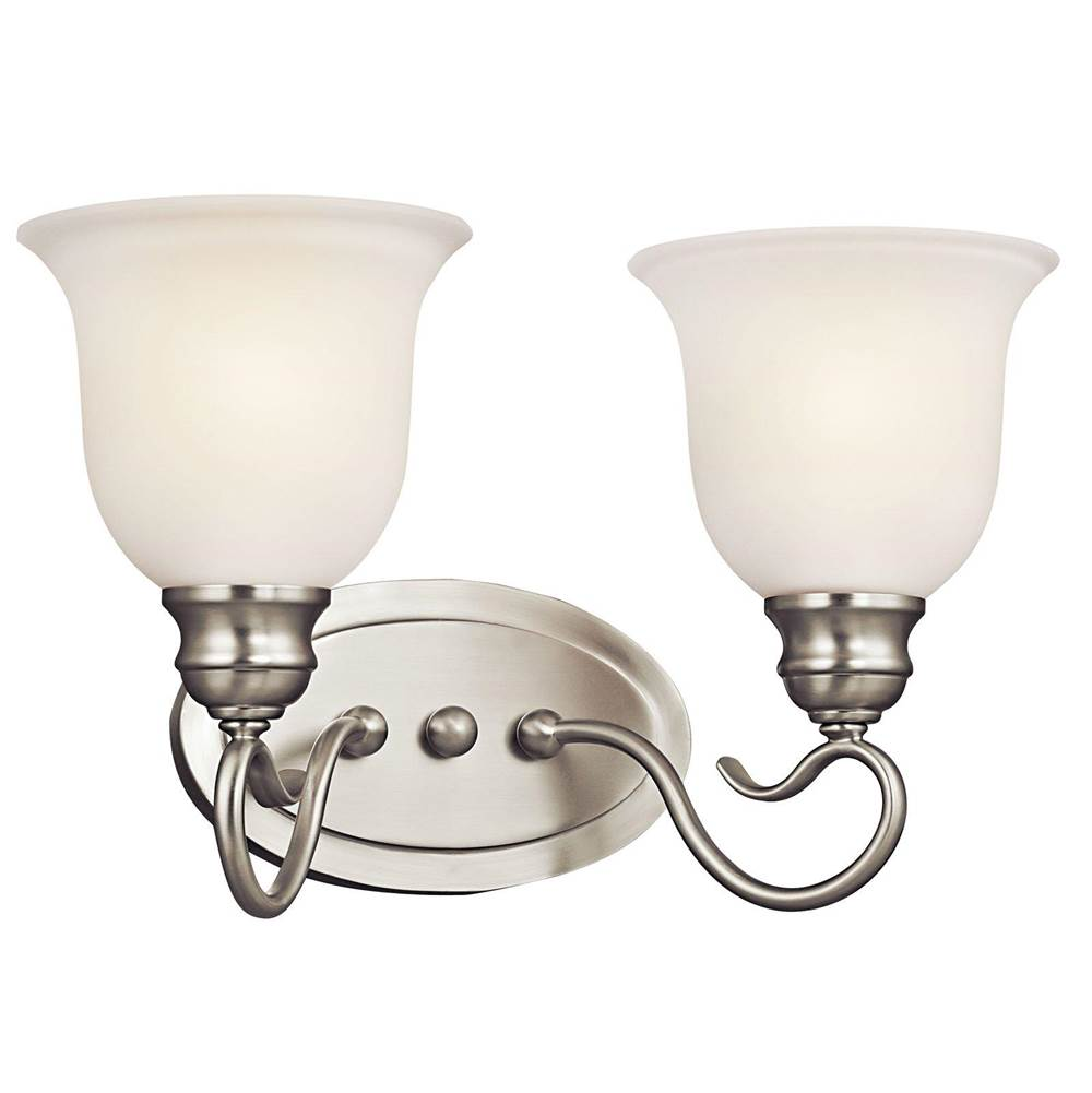 Kichler Lighting Two Light Vanity Bathroom Lights item 45902NI