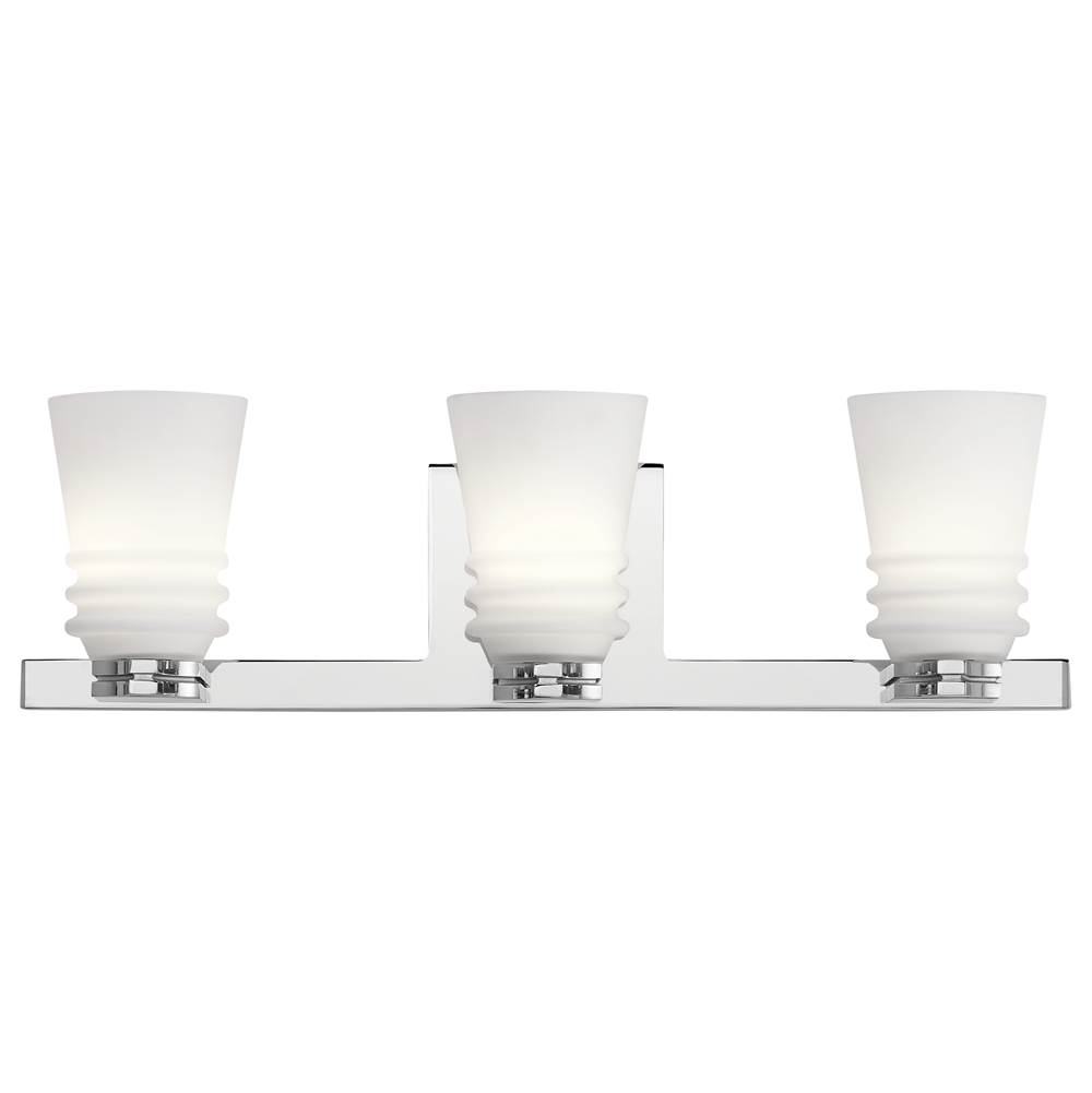 Kichler Lighting Three Light Vanity Bathroom Lights item 45977CH