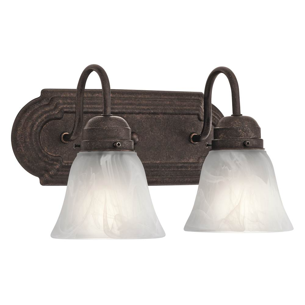 Kichler Lighting Two Light Vanity Bathroom Lights item 5336TZ
