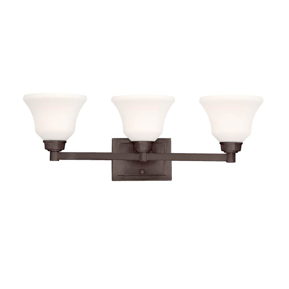 Kichler Lighting Three Light Vanity Bathroom Lights item 5390OZ