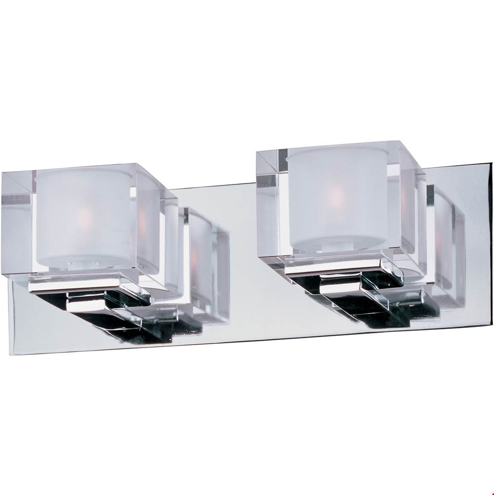 Maxim Lighting Two Light Vanity Bathroom Lights item 10002CLPC