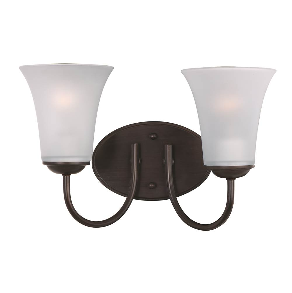 Maxim Lighting Two Light Vanity Bathroom Lights item 10052FTOI