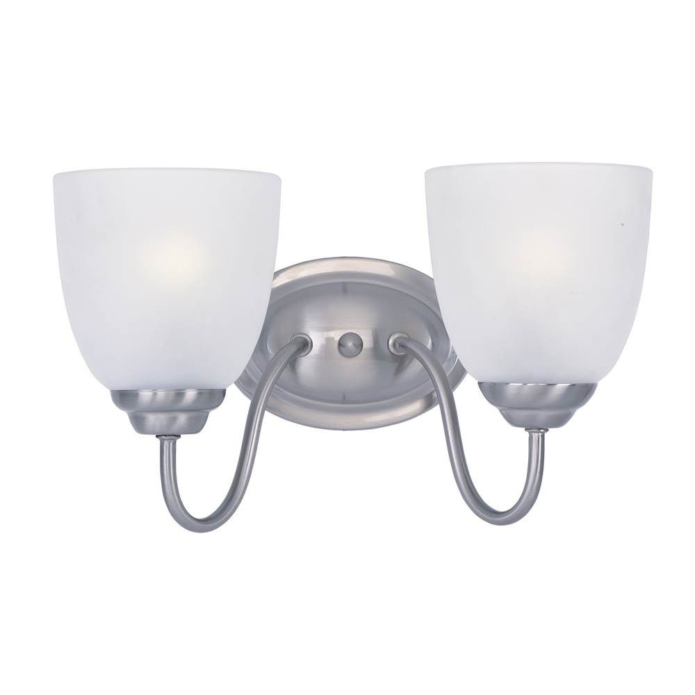 Maxim Lighting Two Light Vanity Bathroom Lights item 10072FTSN