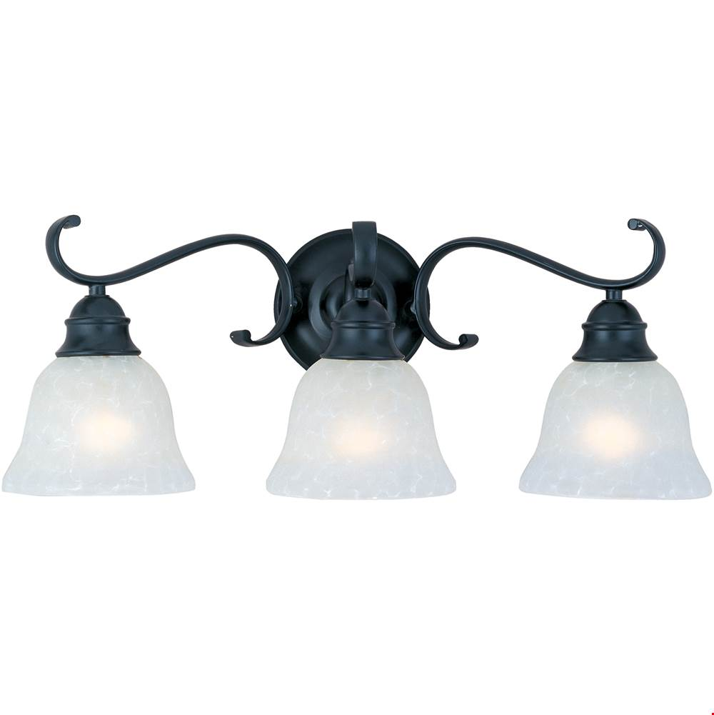 Maxim Lighting Three Light Vanity Bathroom Lights item 11810ICBK