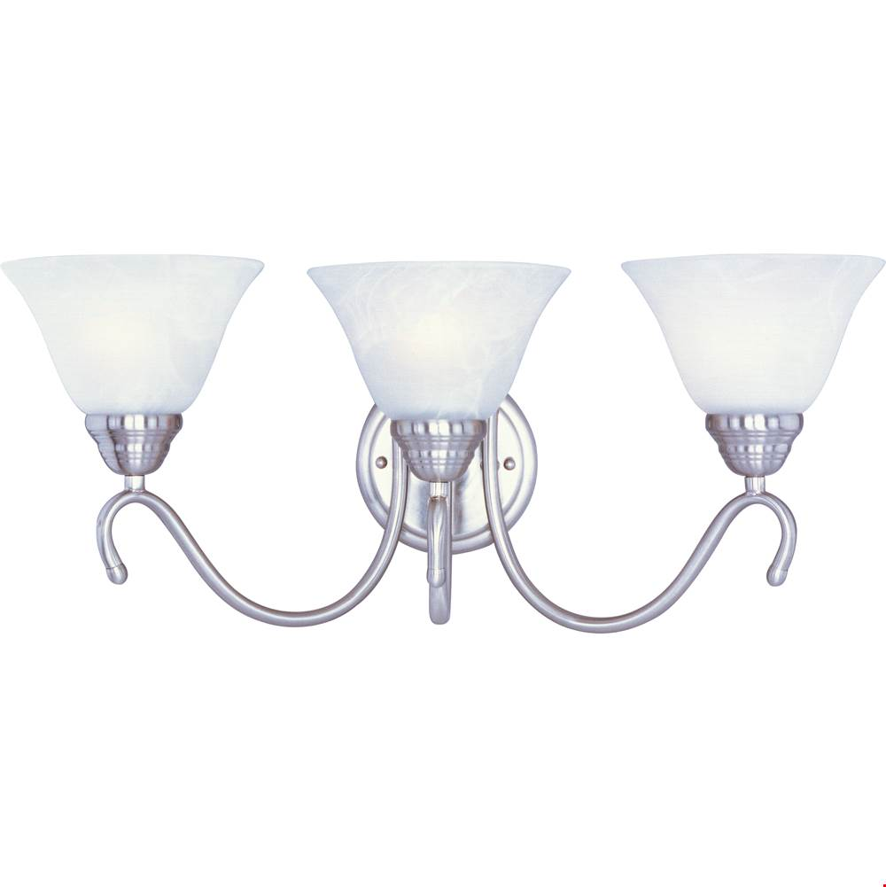 Maxim Lighting Three Light Vanity Bathroom Lights item 12068MRSN