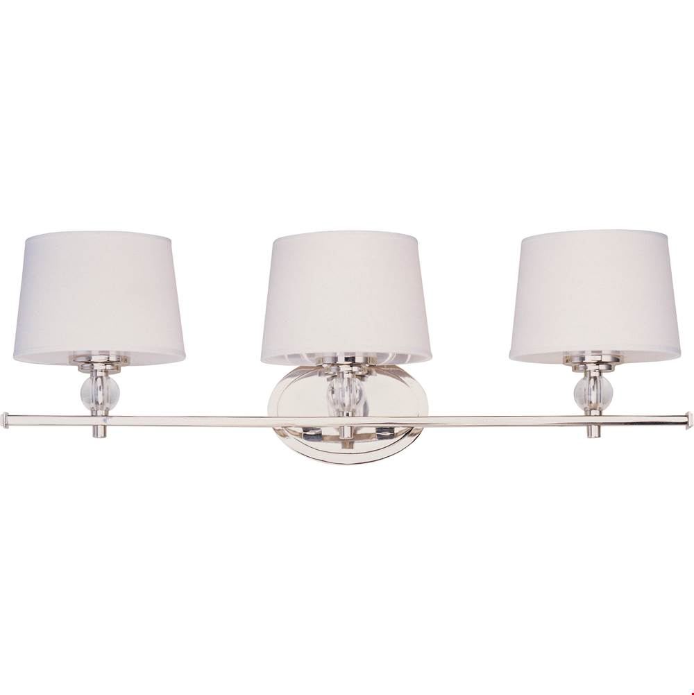 Maxim Lighting Three Light Vanity Bathroom Lights item 12763WTPN