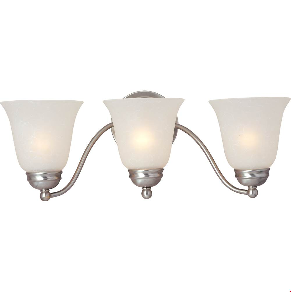 Maxim Lighting Three Light Vanity Bathroom Lights item 2122ICSN