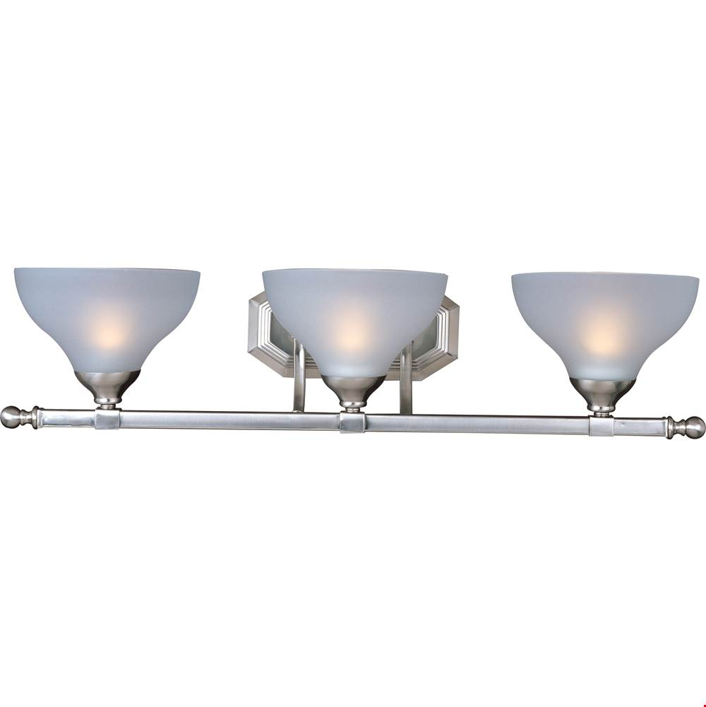 Maxim Lighting Three Light Vanity Bathroom Lights item 21273FTSN