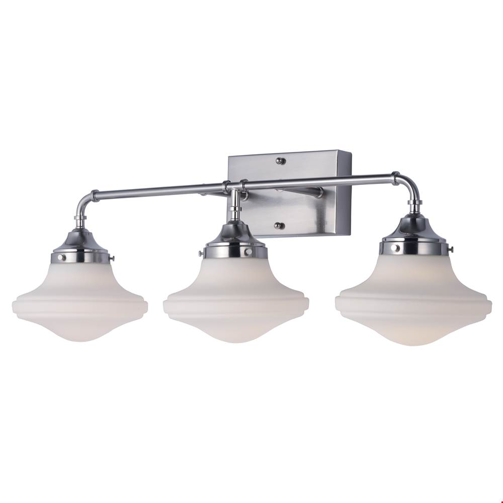 Maxim Lighting Three Light Vanity Bathroom Lights item 30247SWSN