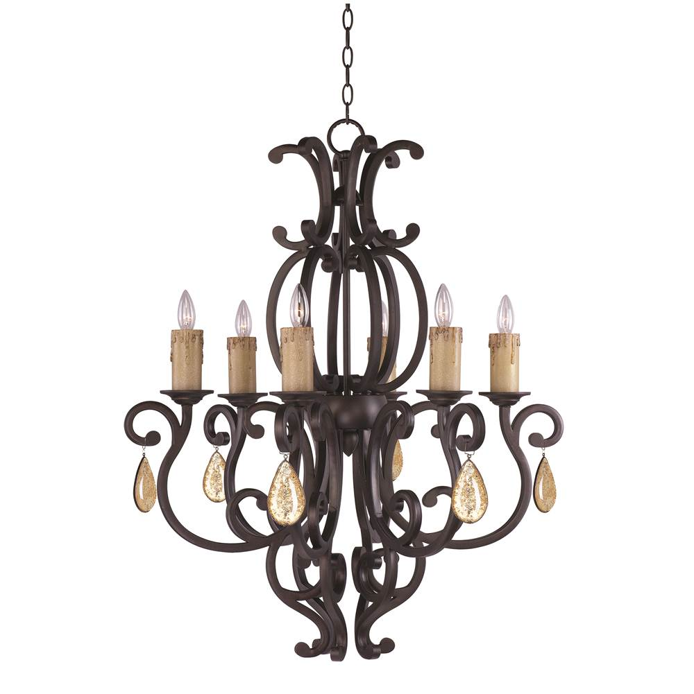 Maxim Lighting Single Tier Chandeliers item 31005CU/CRY094
