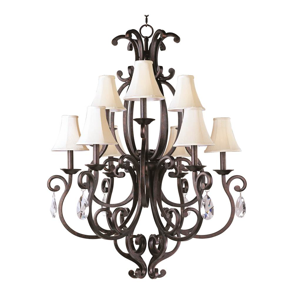 Maxim Lighting Multi Tier Chandeliers item 31006CU/CRY083/SHD62