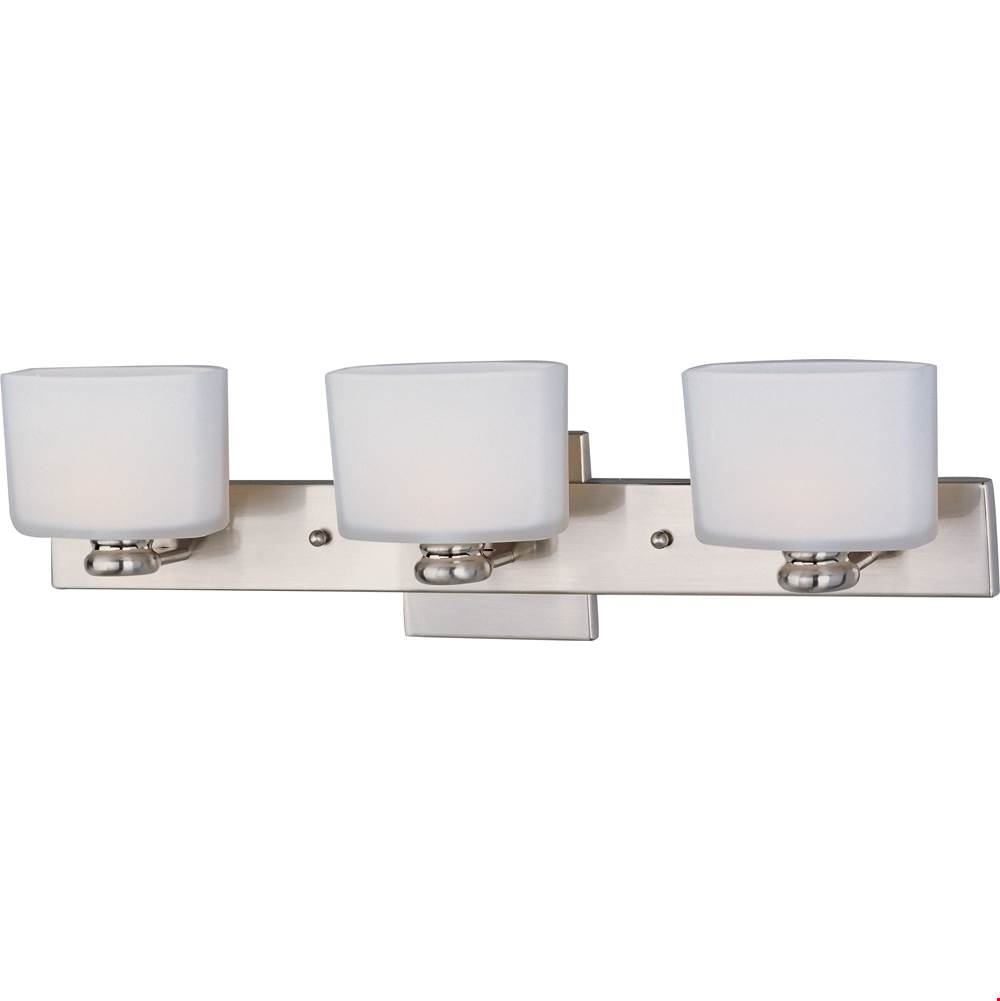 Maxim Lighting Three Light Vanity Bathroom Lights item 9003SWSN