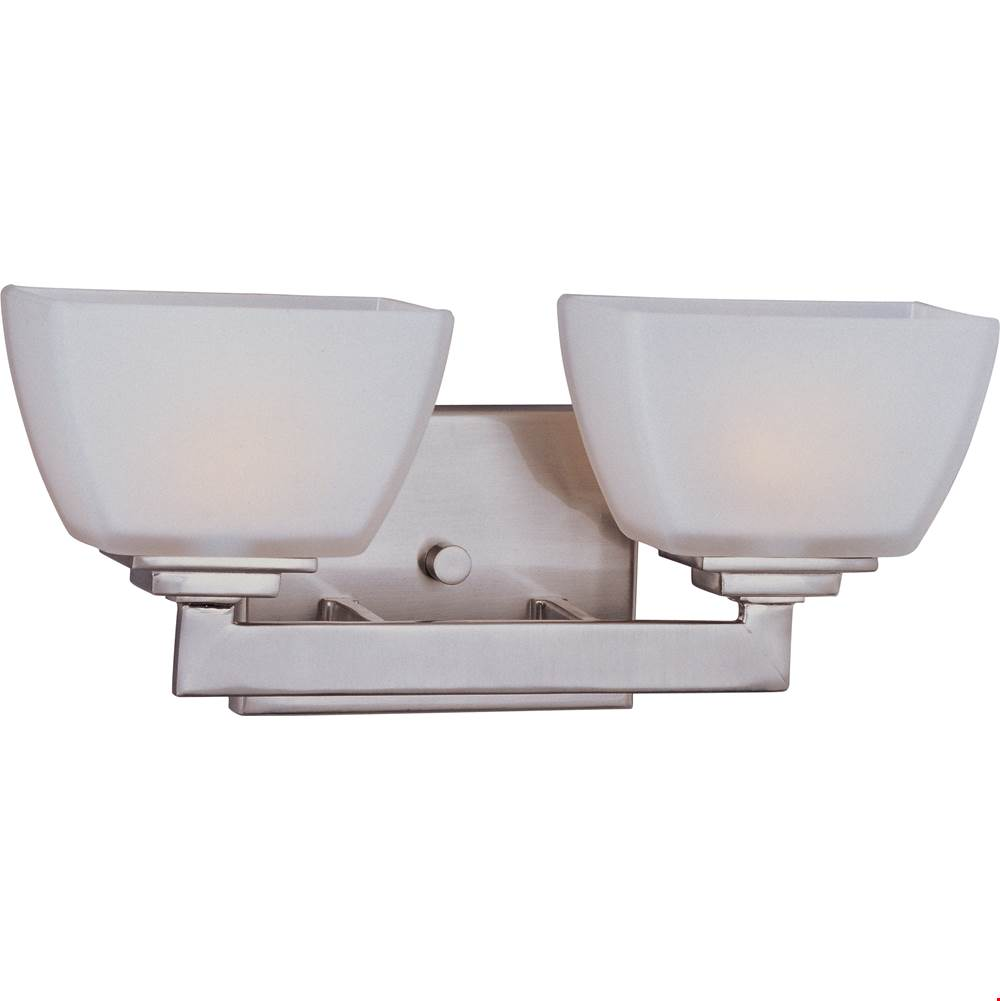 Maxim Lighting Two Light Vanity Bathroom Lights item 9032SWSN