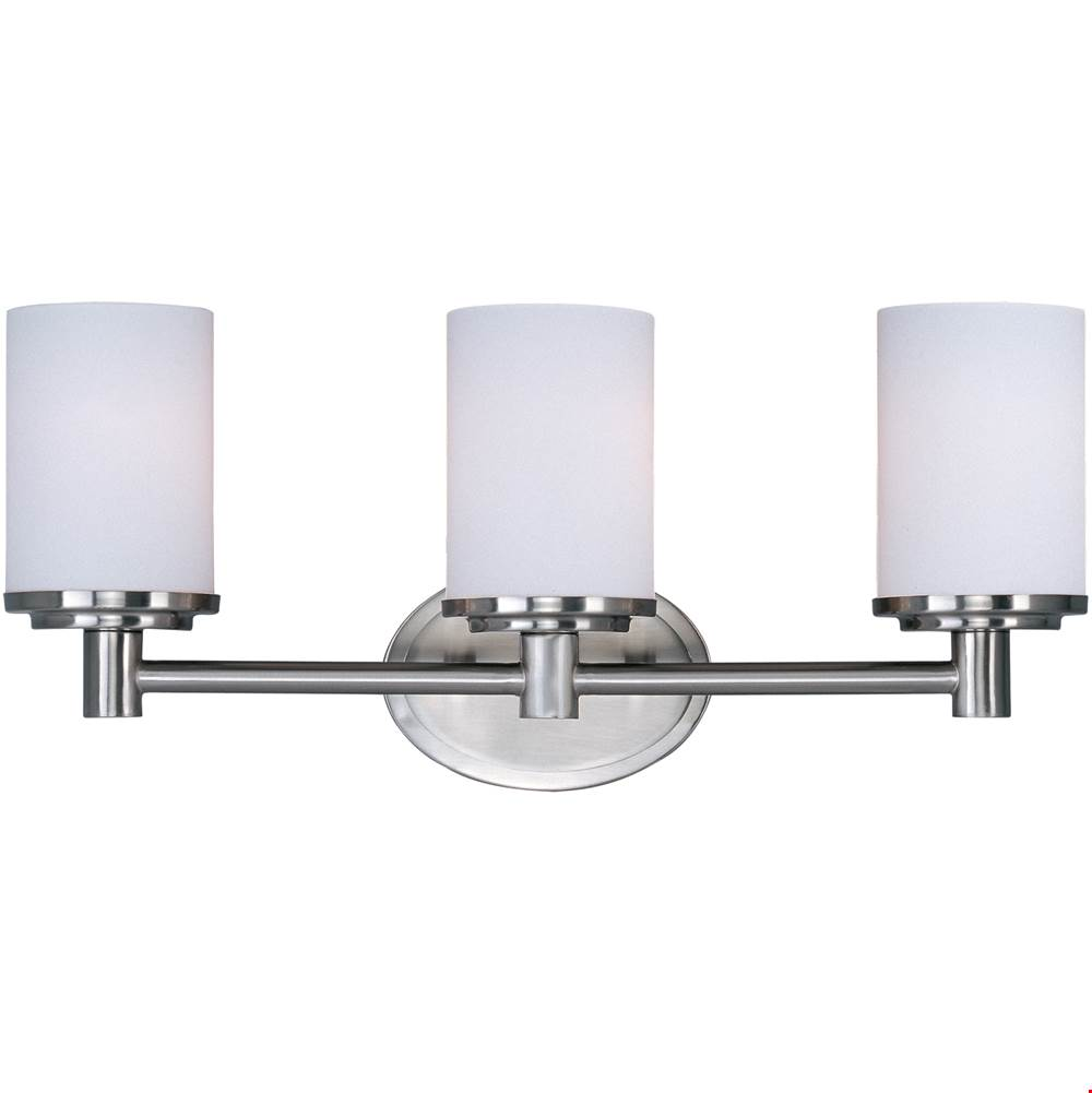 Maxim Lighting Three Light Vanity Bathroom Lights item 9053SWSN