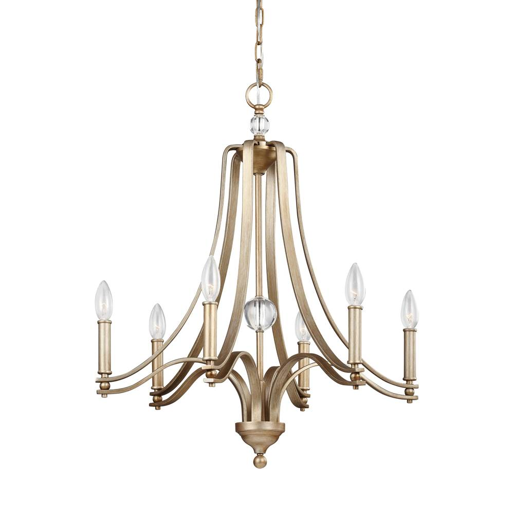 Feiss Lighting Single Tier Chandeliers item F3075/6SG