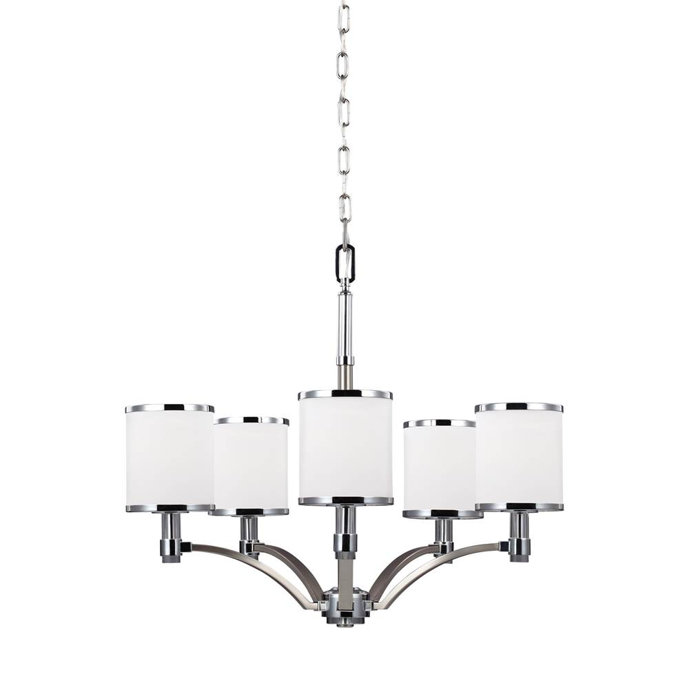 Feiss Lighting Single Tier Chandeliers item F3084/5SN/CH