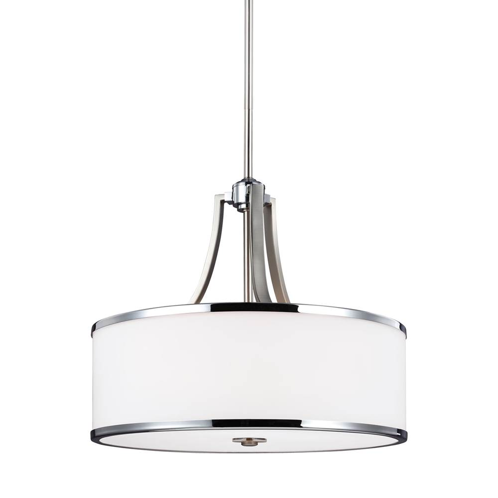 Feiss Lighting Drum Pendants Pendant Lighting item F3087/4SN/CH