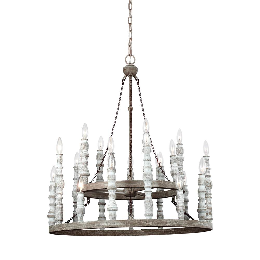 Feiss Lighting Multi Tier Chandeliers item F3143/24DFB/DWH