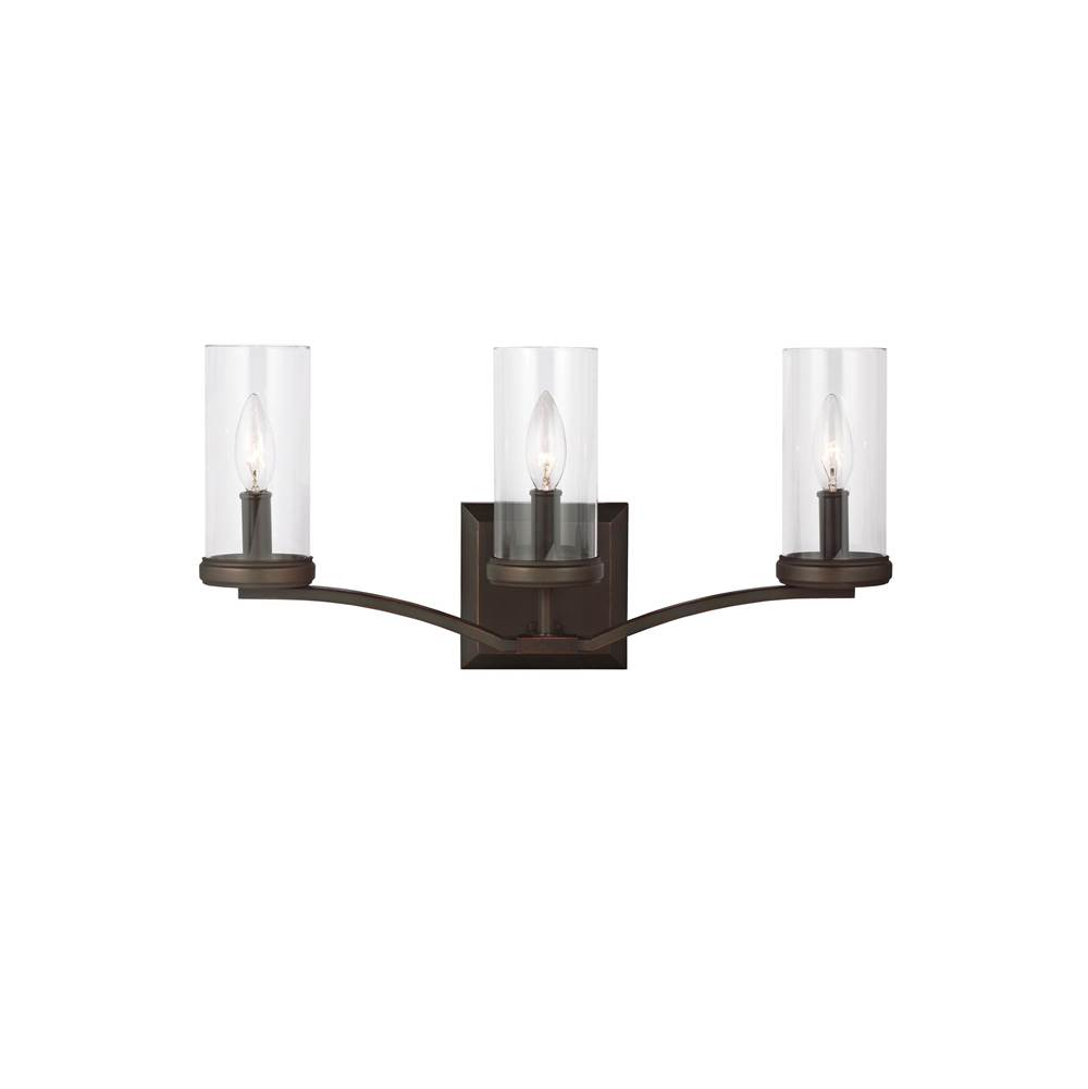 Feiss Lighting Three Light Vanity Bathroom Lights item VS23203DAC/AC