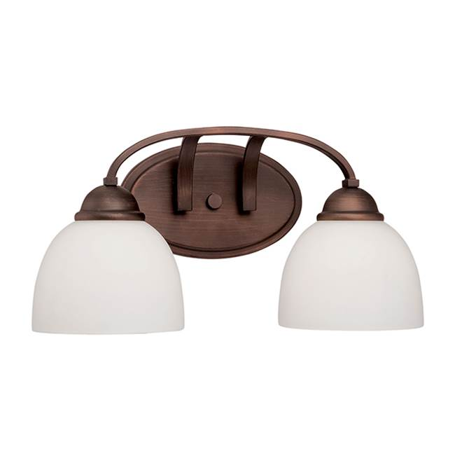 Millennium Lighting Two Light Vanity Bathroom Lights item 2202-RBZ