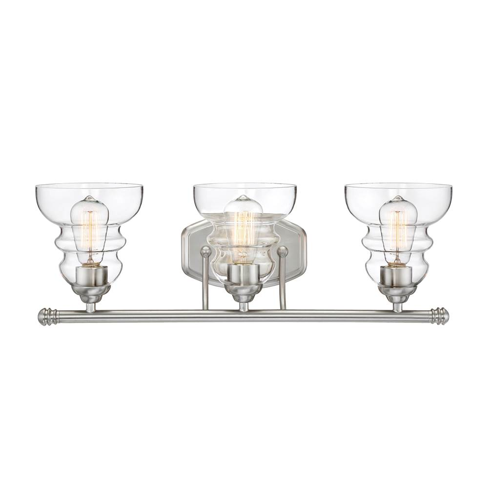Millennium Lighting Three Light Vanity Bathroom Lights item 7333-SN