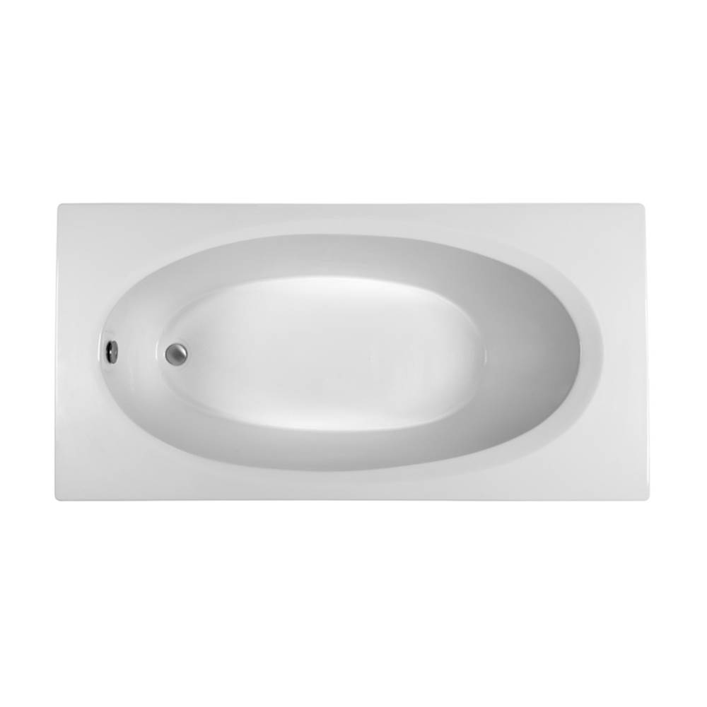 MTI Baths Drop In Whirlpool Bathtubs item MBWRO7236E-WH